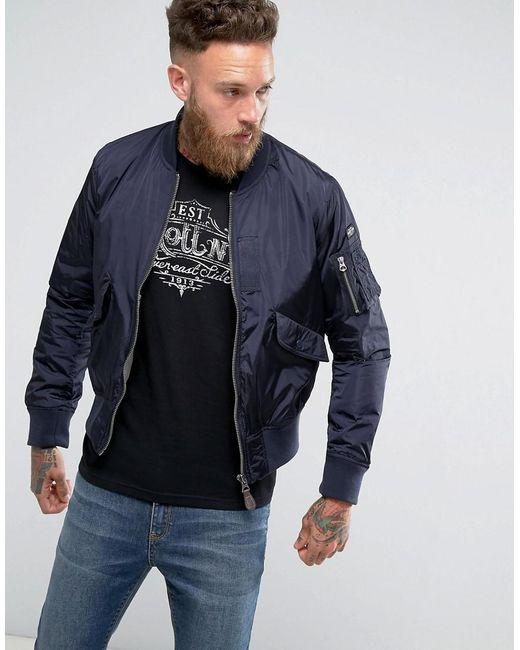 schott nyc bomber jacket in blue for men lyst. Black Bedroom Furniture Sets. Home Design Ideas