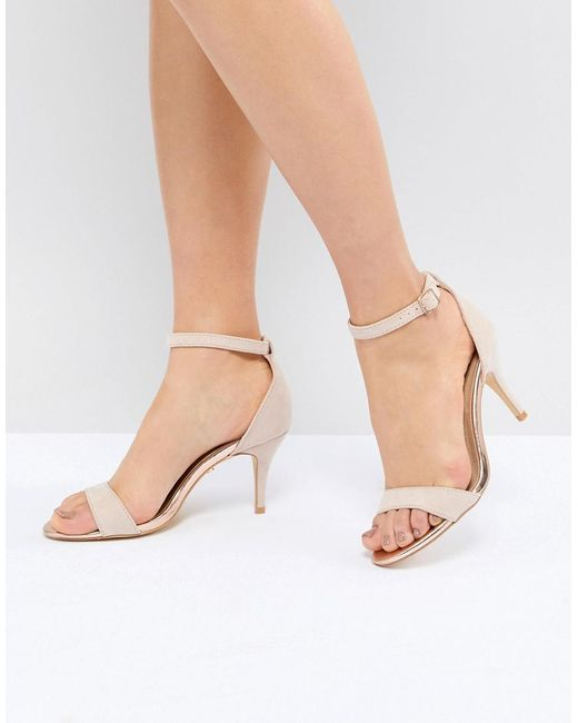 Oasis - Pink Barely There Heeled Sandals - Lyst