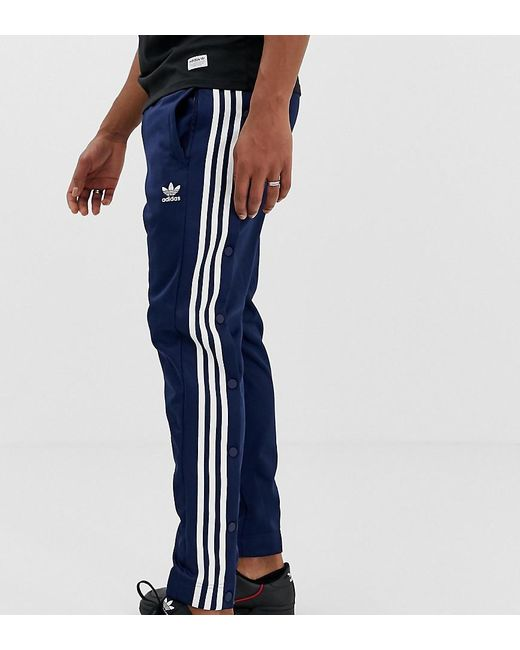 hot-selling genuine cheap prices picked up adidas Originals Cotton Snap Track Pants in Navy (Blue) for ...