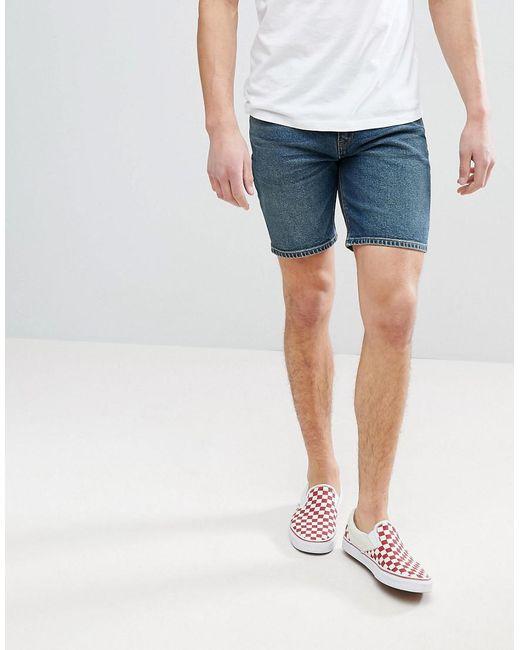 ASOS - Blue Asos Denim Shorts In Skinny Vintage Dark Wash for Men - Lyst