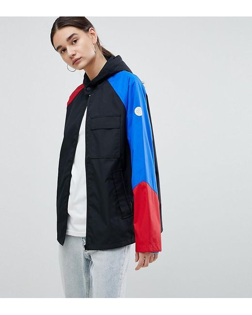164d03e5ca48 Converse - Cons Skate Jacket In Black With Colourblock Sleeve - Lyst ...