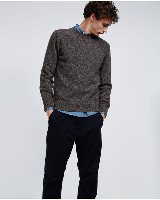 Aspesi - Gray Wool Sweater for Men - Lyst