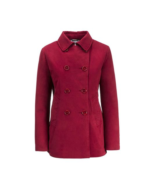 Aspesi | Red Cotton And Thermore Coat Cincia * | Lyst