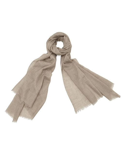 Aspinal - Brown The Lightweight Cashmere Scarf - Lyst