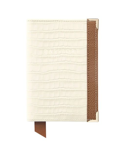 Aspinal - White Plain Passport Cover - Lyst