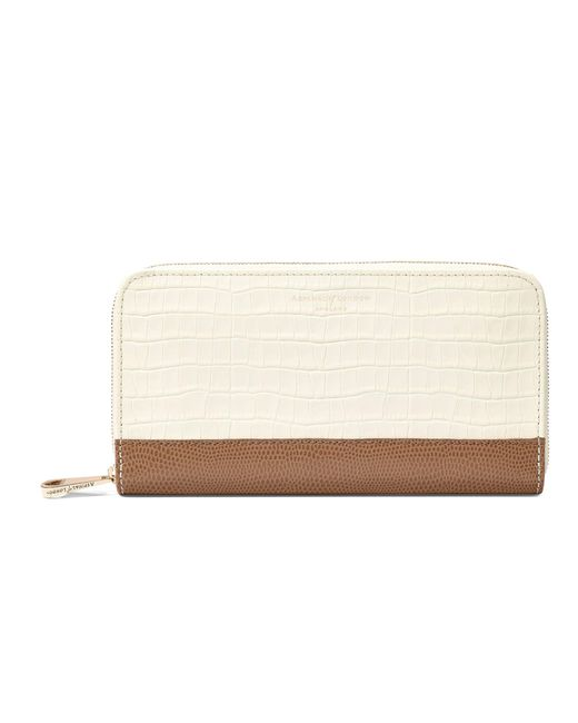 Aspinal - White Continental Clutch Zip Wallet - Lyst