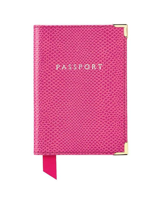 Aspinal   Pink Plain Passport Cover   Lyst