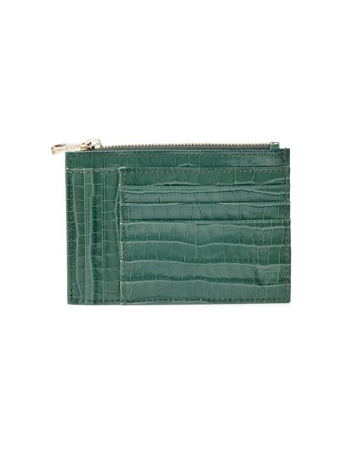 Aspinal - Green Double Sided Zipped Card & Coin Holder - Lyst