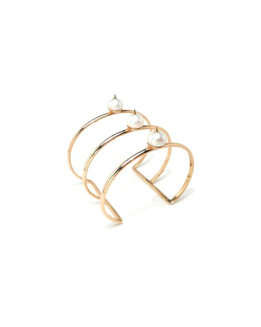 Nektar De Stagni | Metallic White/gold Spike Pearl Cuff | Lyst
