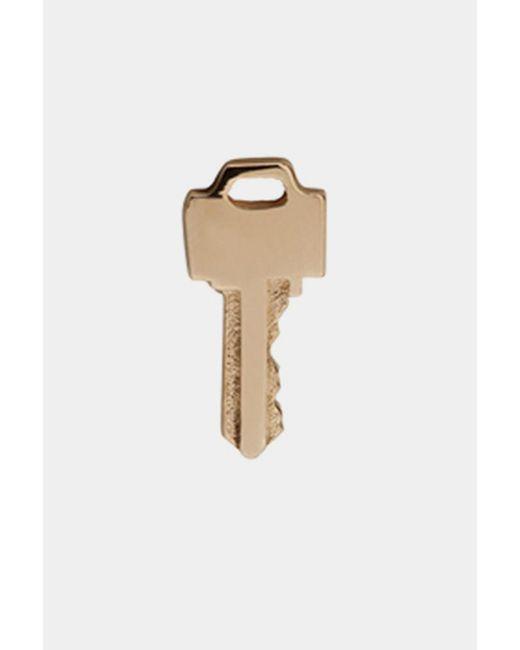 Lauren Klassen | Metallic Tiny Key Earrings - Gold | Lyst