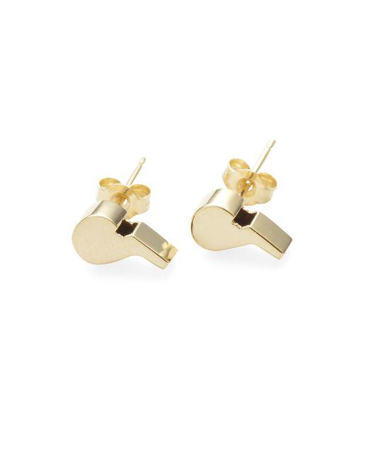 Lauren Klassen   Metallic 14k Gold Whistle Studs   Lyst