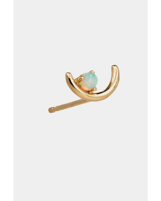 Wwake | Metallic 14k Gold Offset Opal Earrings | Lyst