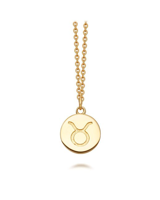 Astley Clarke - Metallic Gold Taurus Zodiac Biography Pendant Necklace - Lyst
