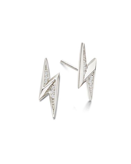Astley Clarke - Metallic Mini Lightning Bolt Biography Stud Earrings - Lyst