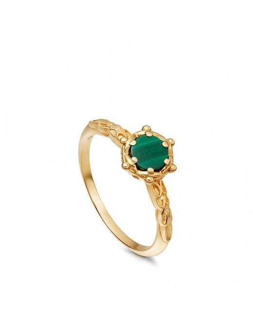 Astley Clarke - Metallic Malachite Floris Ring - Lyst