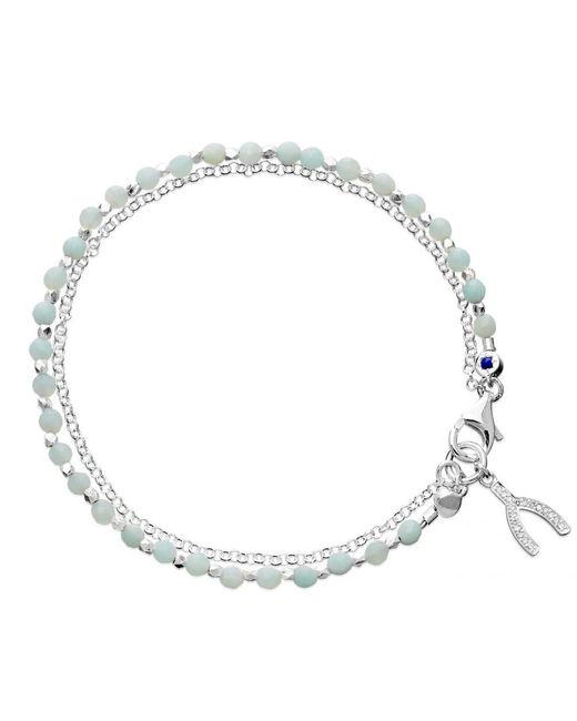 Astley Clarke | Blue Amazonite Wishbone Biography Bracelet | Lyst
