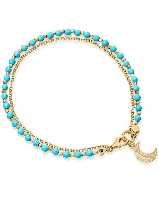 Astley Clarke | Blue Turquoise Moon Biography Bracelet | Lyst