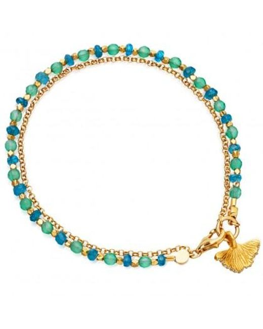 Astley Clarke | Green Apatite Ginkgo Biography Bracelet | Lyst