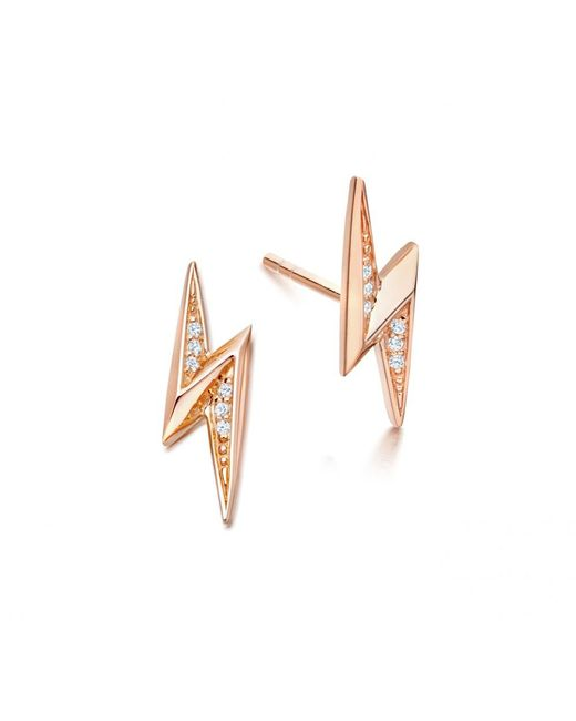 Astley Clarke | Multicolor Mini Lightning Bolt Biography Stud Earrings | Lyst