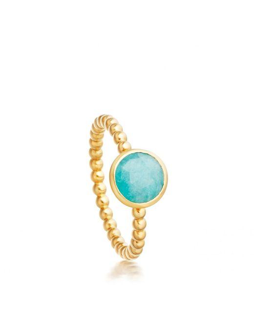 Astley Clarke | Metallic Mini Amazonite Beaded Stilla Ring | Lyst