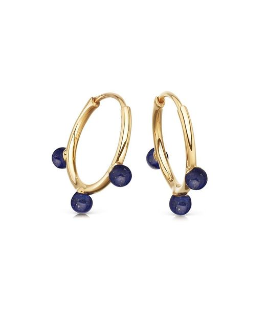 Astley Clarke | Multicolor Lapis Hazel Hoop Earrings | Lyst