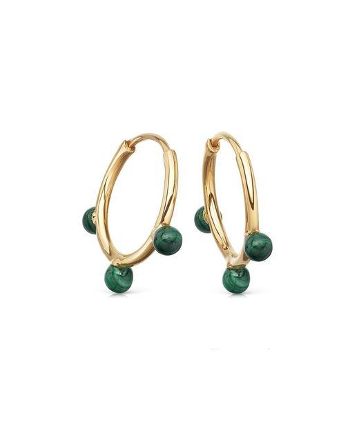 Astley Clarke | Multicolor Malachite Hazel Hoop Earrings | Lyst