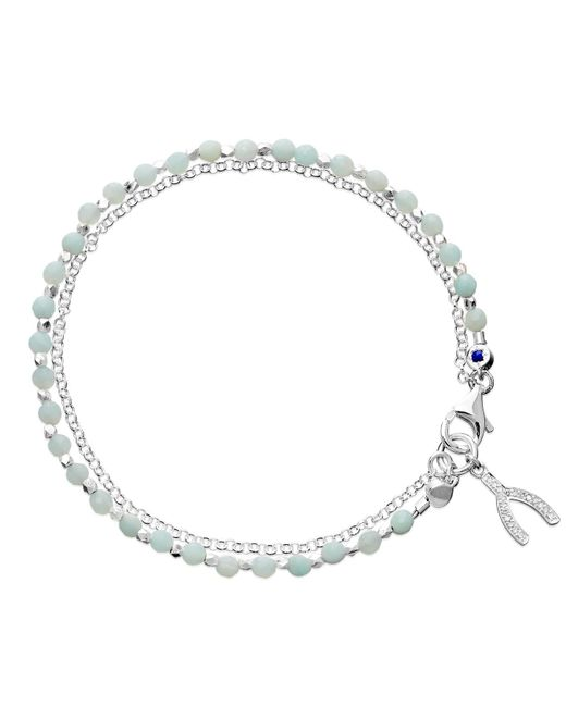 Astley Clarke | Blue Amazonite Wishbone Biography Bracelet | Lyst