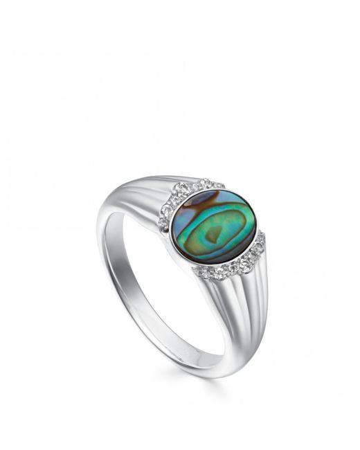 Astley Clarke - Multicolor Luna Abalone Signet Ring - Lyst