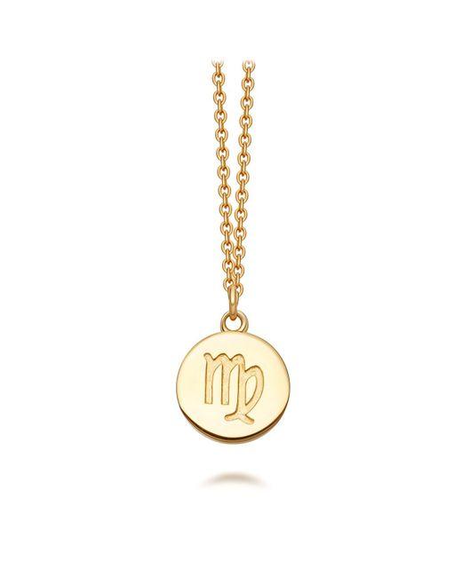 Astley Clarke - Metallic Gold Virgo Zodiac Biography Pendant Necklace - Lyst