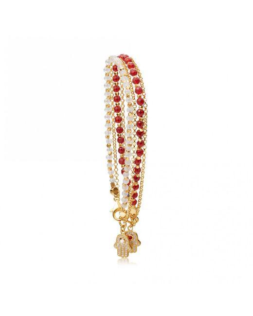 Astley Clarke - Metallic Double Hamsa Bracelet Stack - Lyst