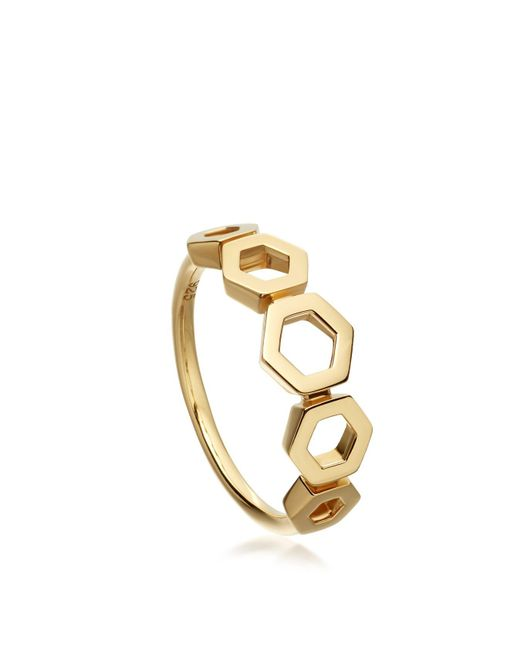 Astley Clarke | Metallic Plain Honeycomb Ring | Lyst