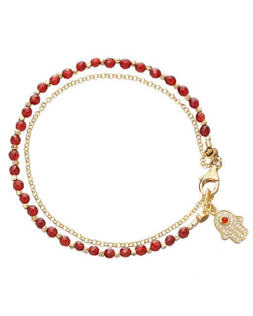 Astley Clarke - Red Agate Hamsa Biography Bracelet - Lyst