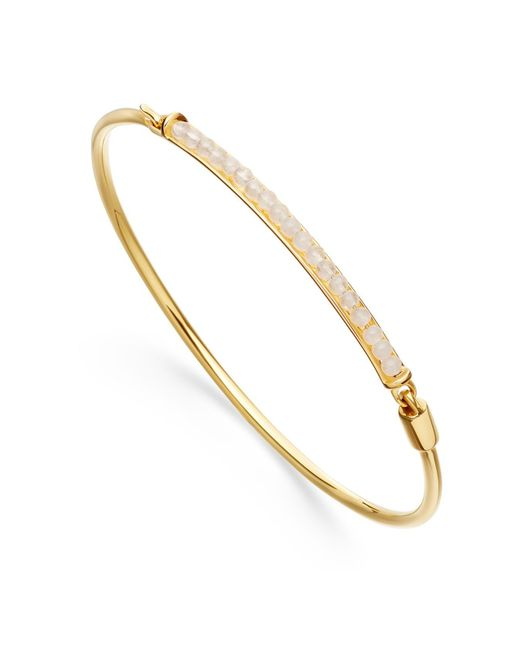 Astley Clarke | Metallic Rainbow Moonstone Biography Bangle | Lyst