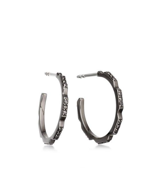 Astley Clarke - Black Diamond Aubar Hoop Earrings - Lyst