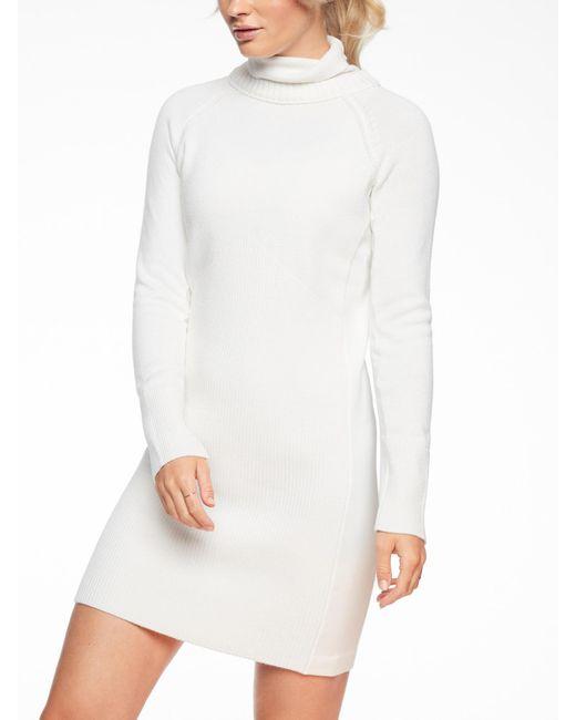 7e83054541a Lyst - Athleta Mesa Hybrid Sweater Dress in White