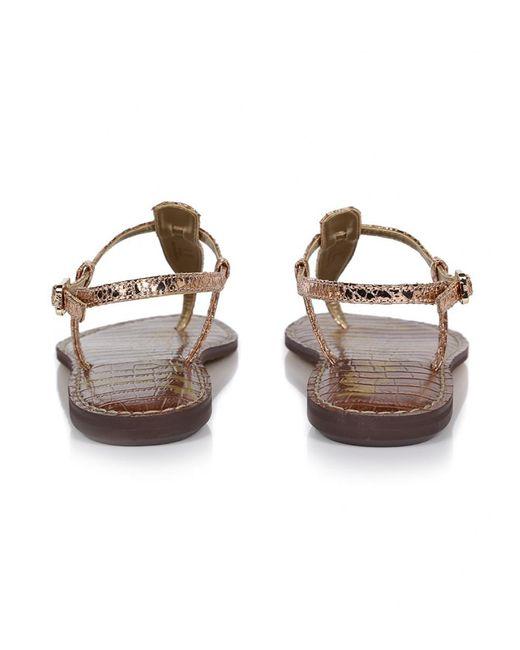 0cb35901738b1 ... Lyst Sam Edelman - Pink Women s Gigi Metallic Boa Sandals ...
