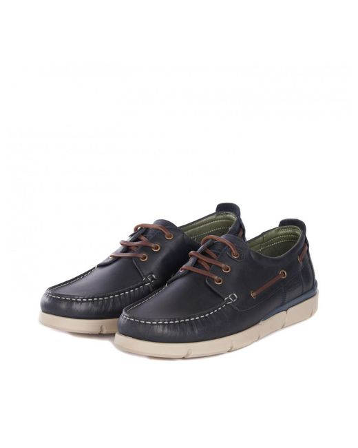 Barbour - Blue Men's George Boat Shoes for Men - Lyst