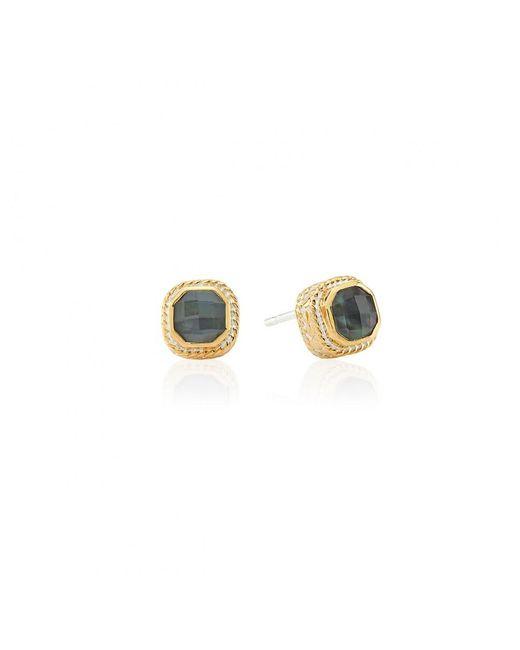 Dusk Quartz: Anna Beck Dreamy Dusk Collection Grey Quartz Stud Earrings