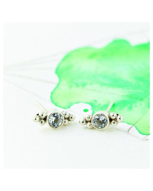 Atterley - Metallic Sterling Silver Topaz Stud Earring - Lyst