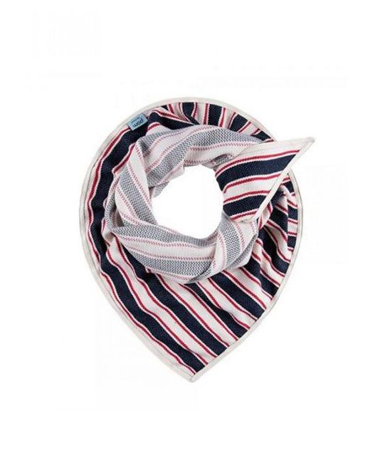 POM Amsterdam - Blue Navy/red Striped Scarf - Lyst