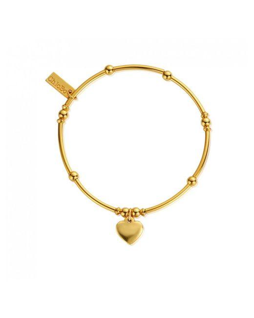 ChloBo - Metallic Mini Noodle Ball Heart Bracelet - Lyst