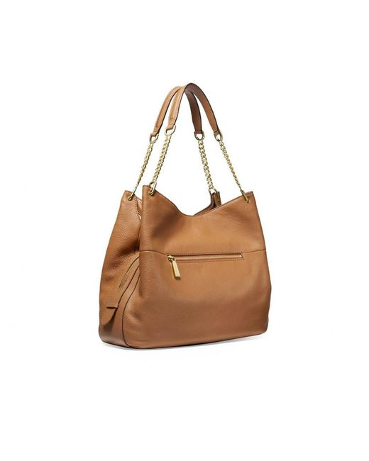 9851cabe309bb ... MICHAEL Michael Kors - Brown Michael Kors Lillie Large Acorn Shoulder  Tote Bag - Lyst ...