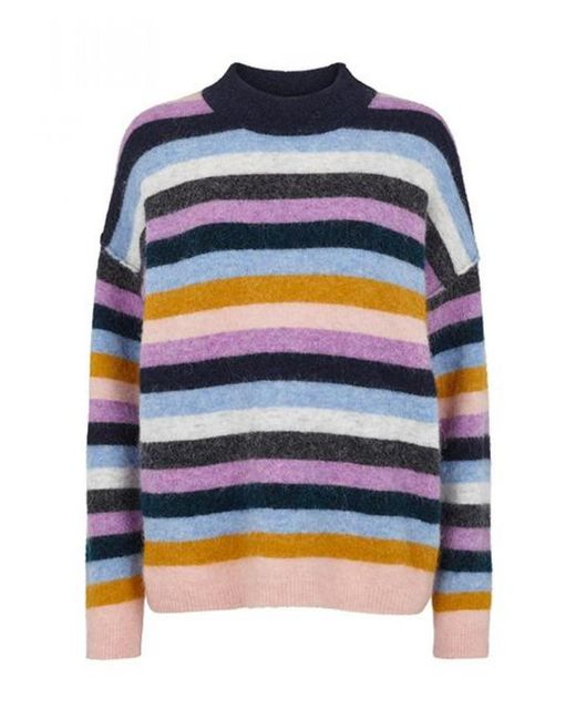 Second Female - Blue Maville Lavender Stripe Knit - Lyst