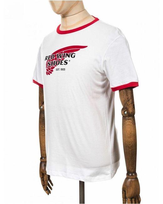 cf42c284 ... Red Wing - White 97406 Ringer Logo Tee for Men - Lyst ...
