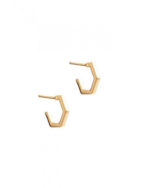 Rachel Jackson - Multicolor Mini Hexagon Hoop Earrings - Lyst