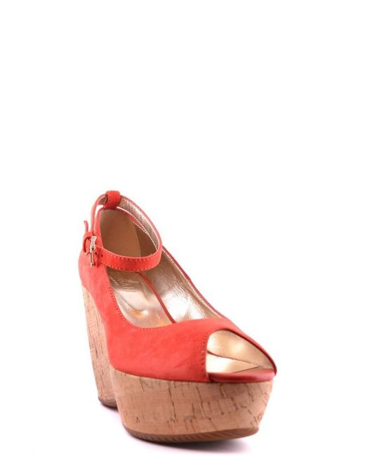 Hogan - Women's Mcbi148057o Red Suede Wedges - Lyst