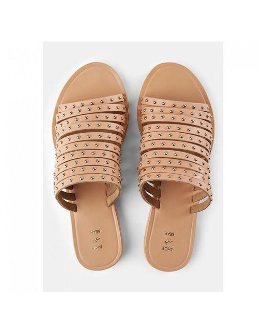 9783387a9a8a Shoe The Bear - Brown Jenna Stud Sandals - Lyst ...
