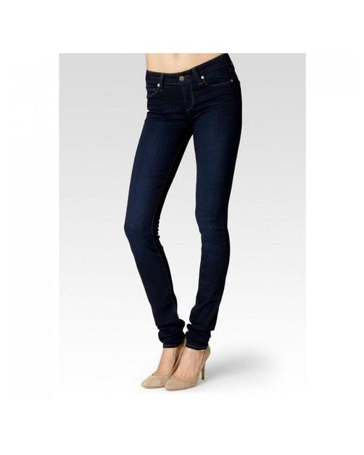 PAIGE - Blue Leggy Ultra Skinny Transcend Jeans - Lyst