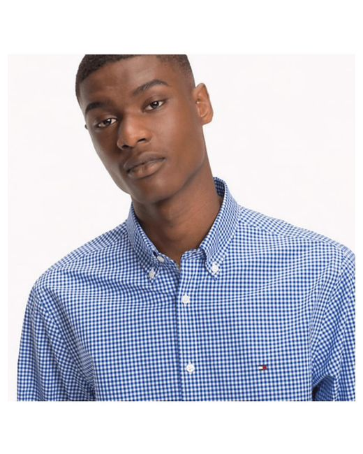 3a3bedad7ed022 Tommy Hilfiger - Blue Classic Gingham Shirt for Men - Lyst ...