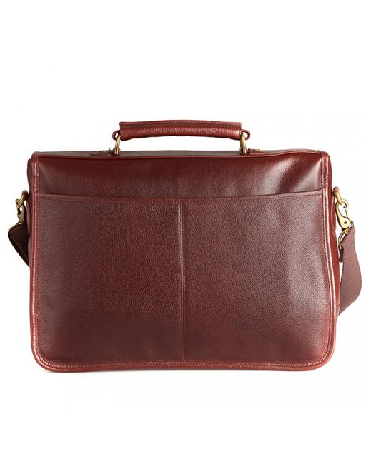 Barbour - Brown Leather Briefcase - Lyst